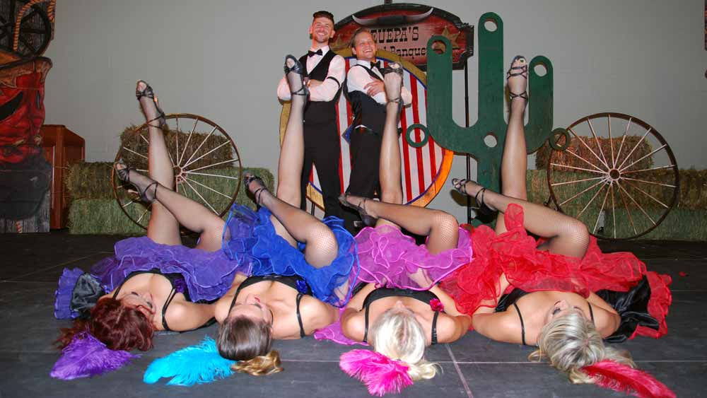 cancan dancers legs in air